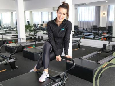 Sharkra Ambassador, Julia Wade of KX Pilates.